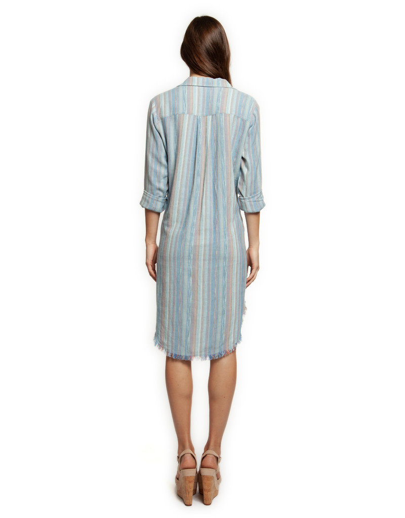 Dex Tess Striped Shirt Dress