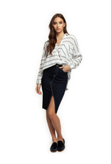 Dex Noelle Striped Shirt