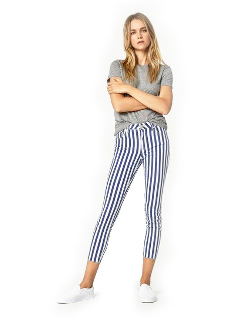 Mavi Mavi  Super Skinny White Stripe Denim
