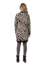 Dex Geri Leopard Cardigan