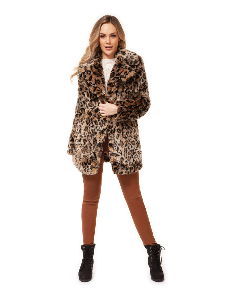 Dex Lyla Leopard Coat