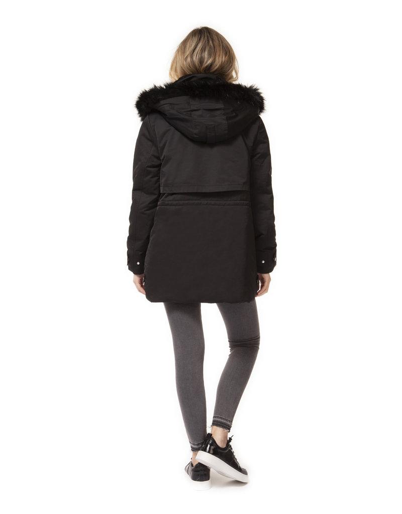 Dex Mariah Fur Trim Coat