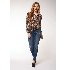 Dex Celina Cheetah Blouse