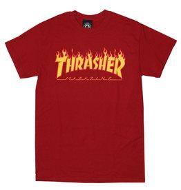 Thrasher Thrasher Tee Mens Flame Logo S/S (Cardinal)