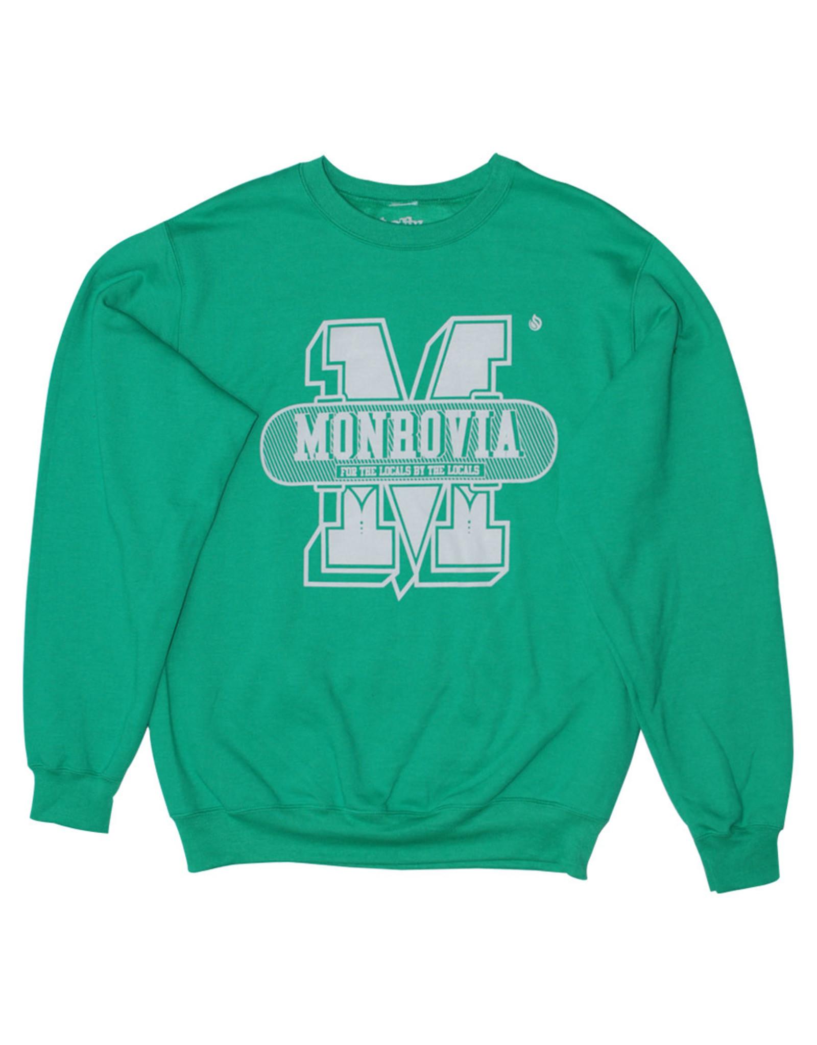 Stix Stix Monrovia Collegiate Sweater (Kelly Green/Light Grey)