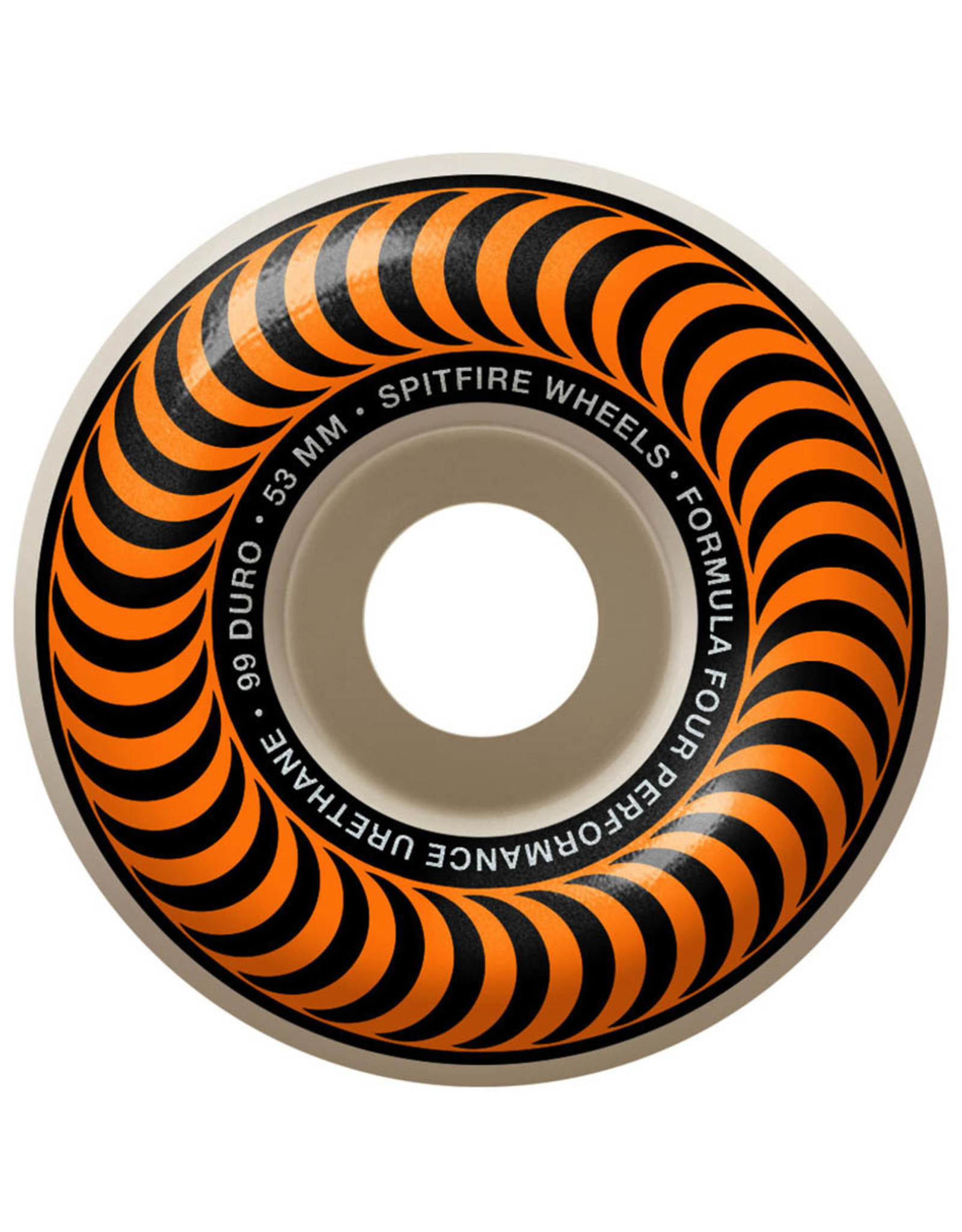 Spitfire Spitfire Wheels Formula Four Orange Classic White (53mm/99d)
