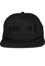 Thrasher Thrasher Hat Rope Snapback (All Black)