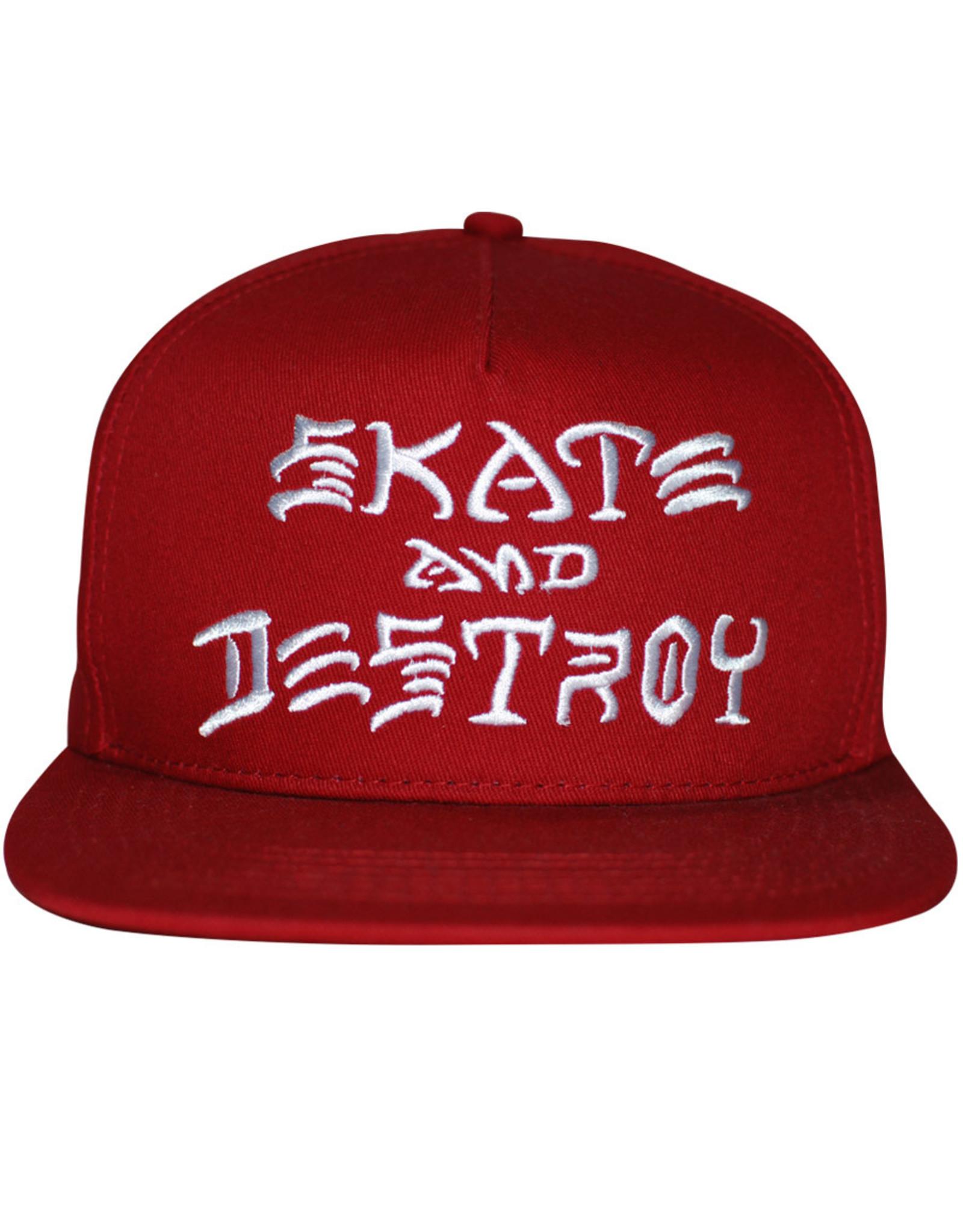 Thrasher Thrasher Hat Sk8 And Destroy Embroidered Snapback (Blood Red)