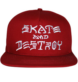 Thrasher Thrasher Hat Sk8 And Destroy Embroidered Snapback (Blood Red)