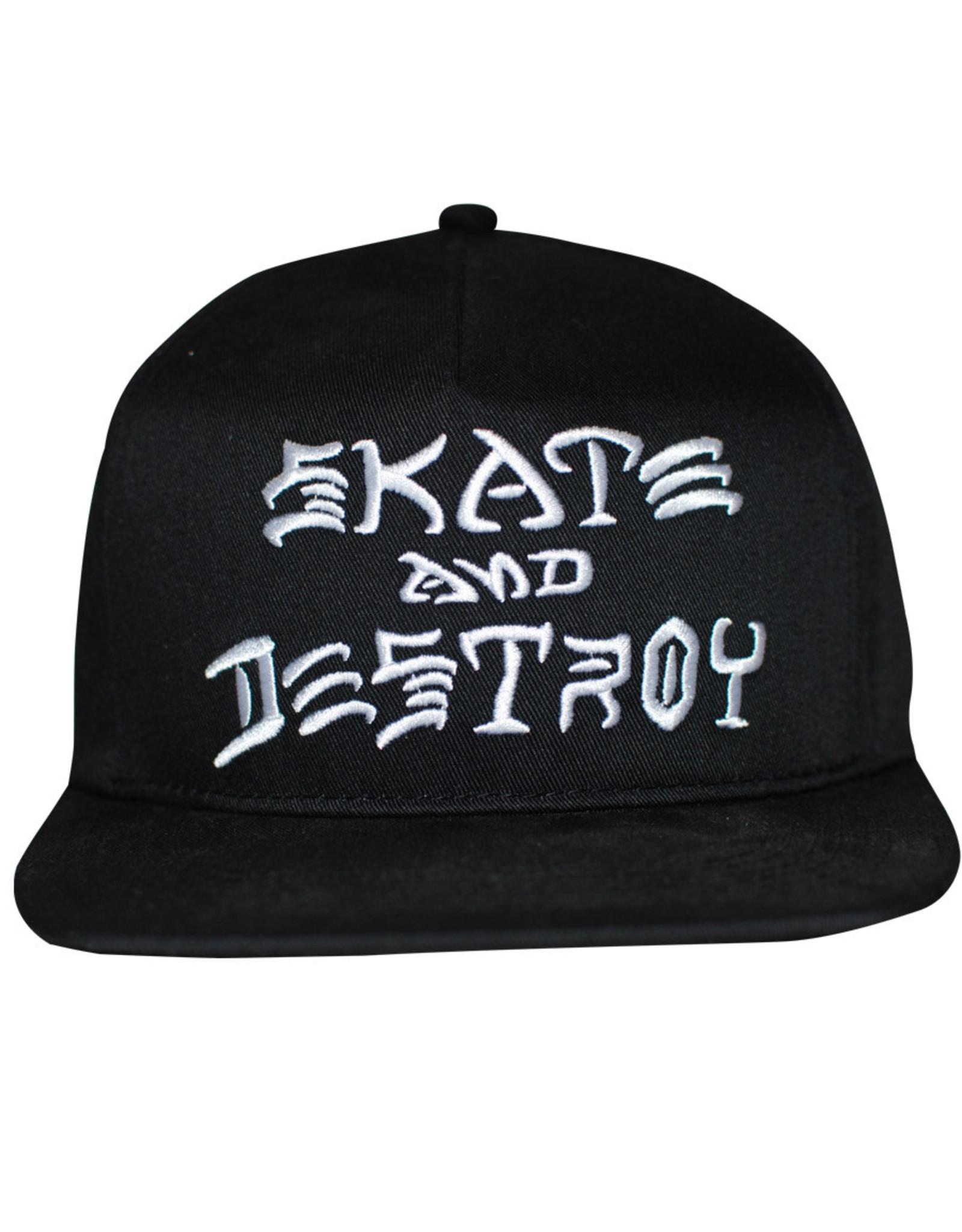 Thrasher Thrasher Hat Sk8 And Destroy Embroidered Snapback (Black/White)