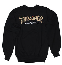 Thrasher Thrasher Crew Mens Calligraphy (Black)
