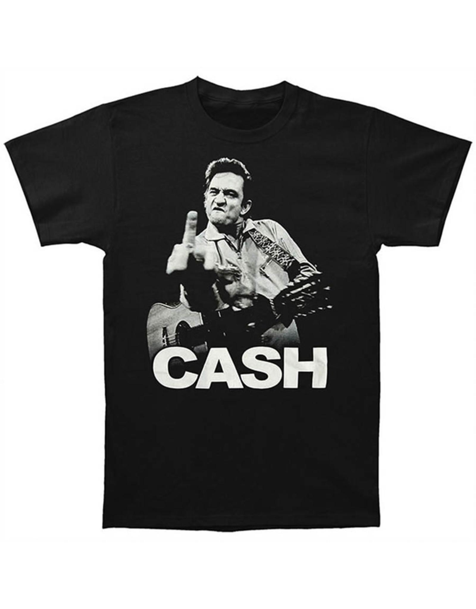 Star 500 Concert Series On Hollywood Tee Johnny Cash Finger S/S (Black)