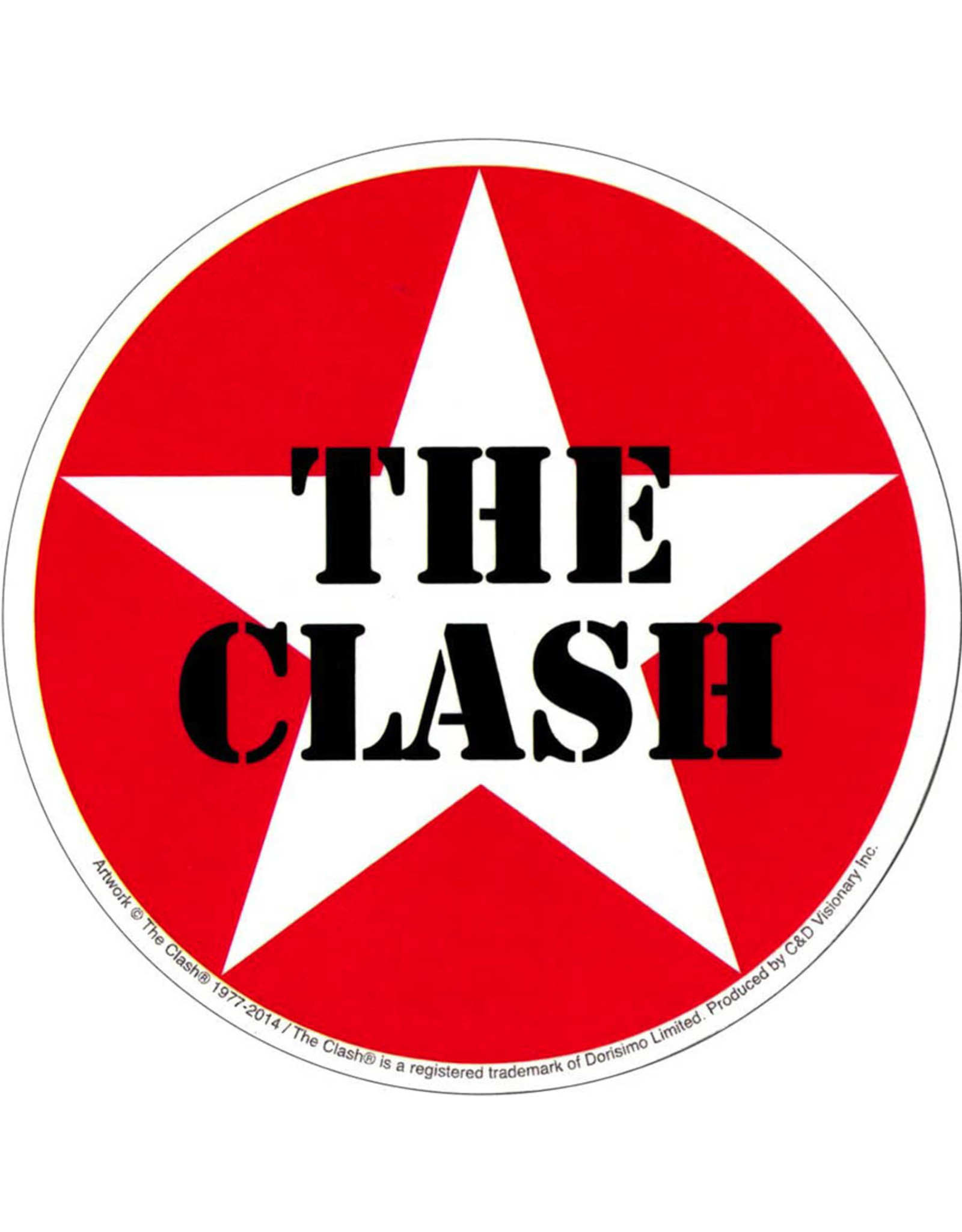Star 500 Concert Series On Hollywood Sticker The Clash (Star Logo)
