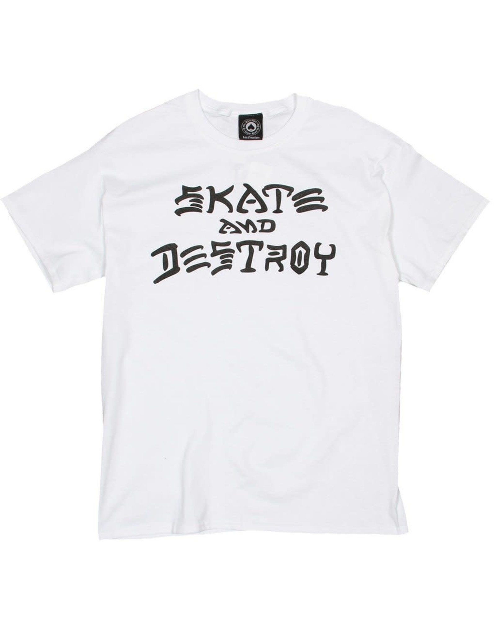 Thrasher Thrasher Tee Mens Sk8 And Destroy S/S (White)