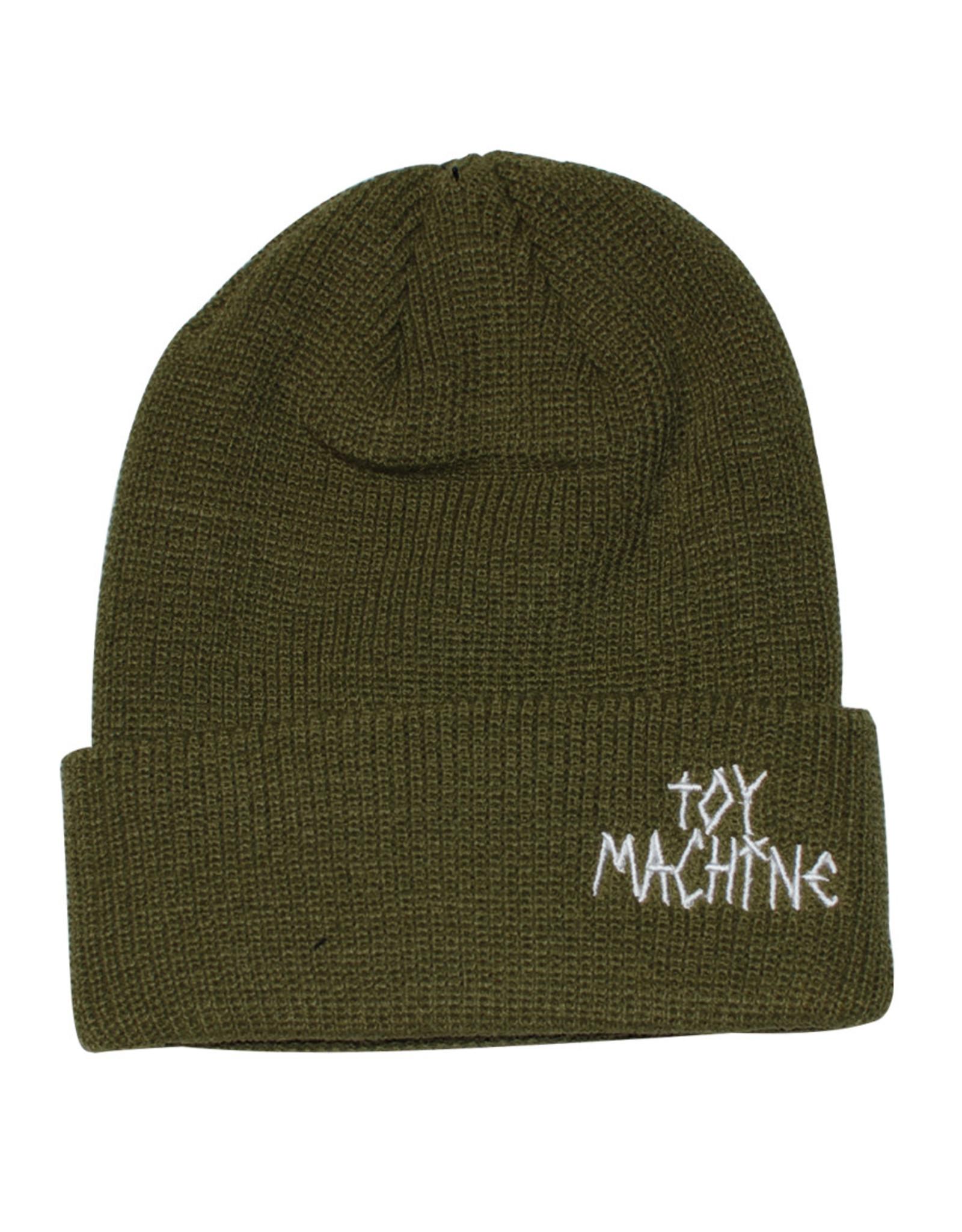 Toy Machine Toy Machine Beanie Tape Logo Cuff (Army)
