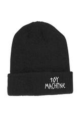 Toy Machine Toy Machine Beanie Tape Logo Cuff (Black)