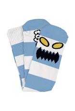 Toy Machine Toy Machine Socks Monster Big Stripe Crew (Light Blue)