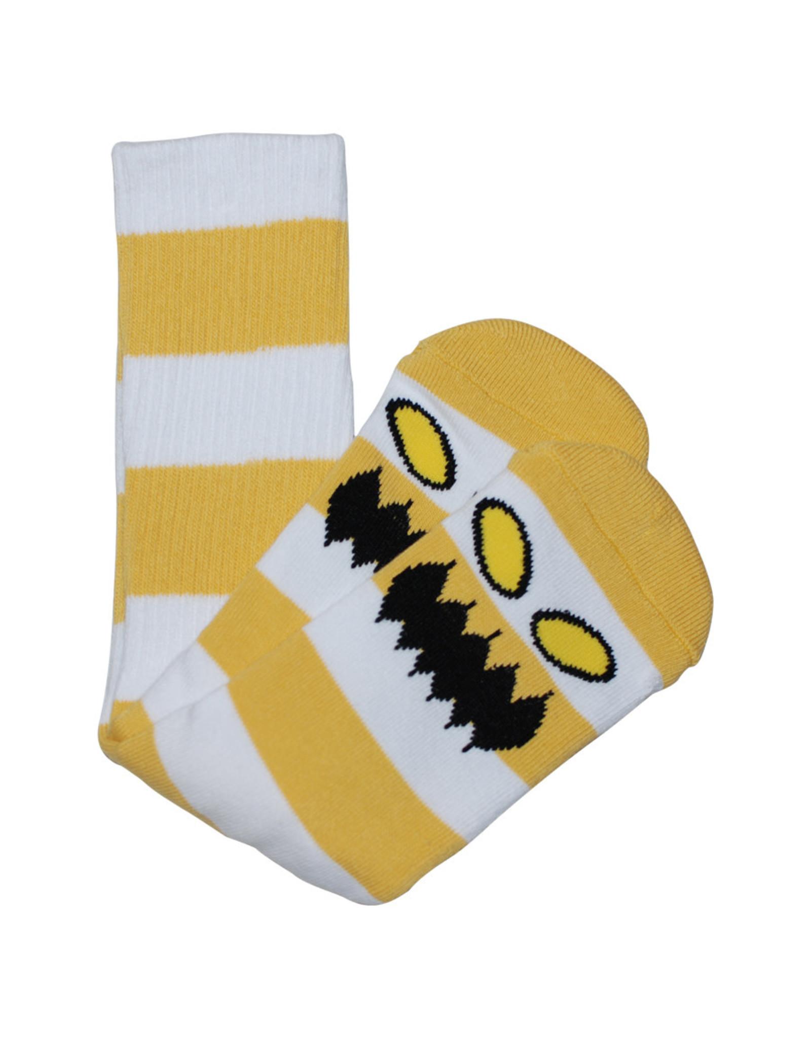 Toy Machine Toy Machine Socks Monster Big Stripe Crew (Mustard)