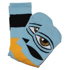 Toy Machine Toy Machine Socks Sect Eye Big Stripe Crew (Baby Blue)