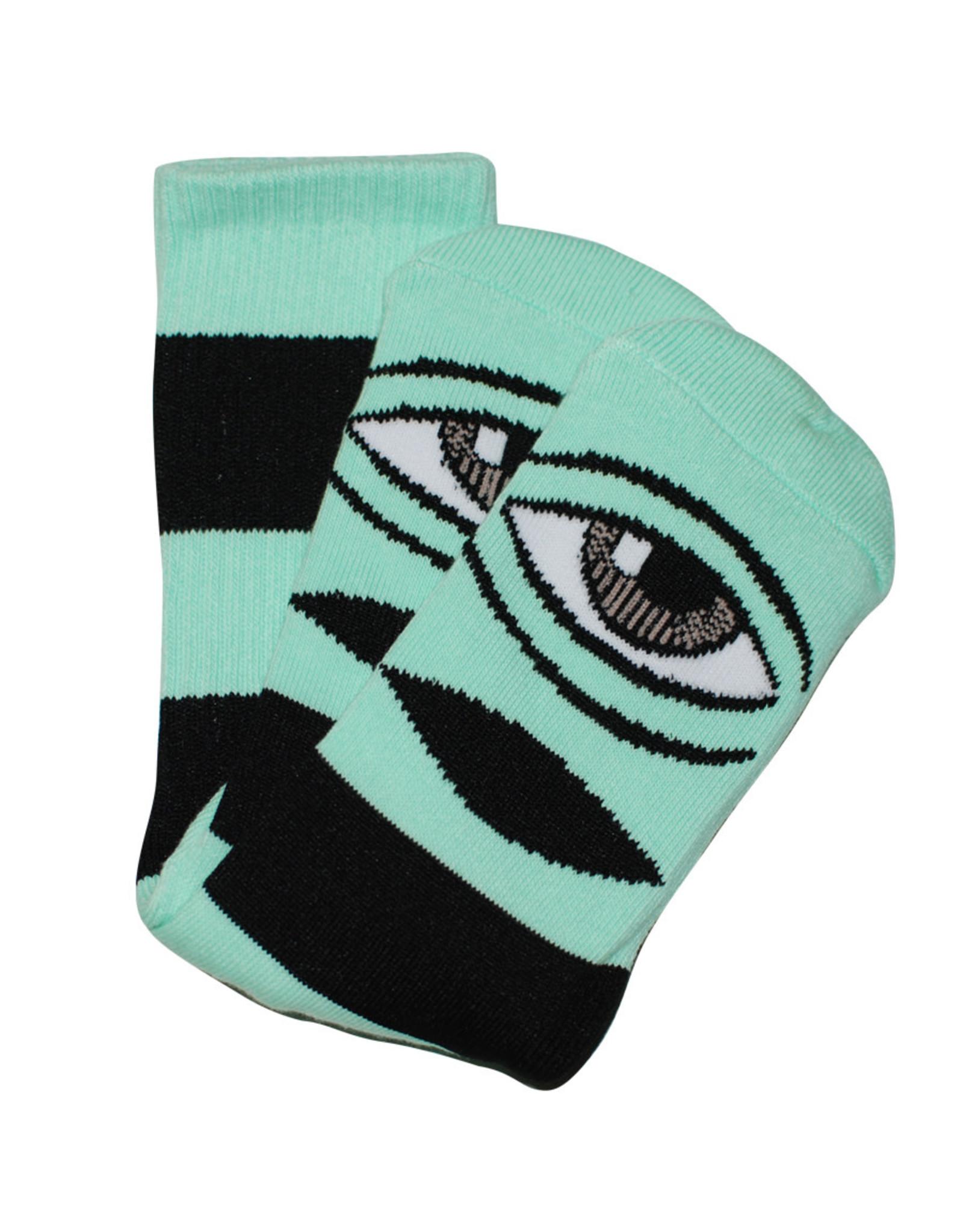 Toy Machine Toy Machine Socks Sect Eye Big Stripe Crew (Mint)