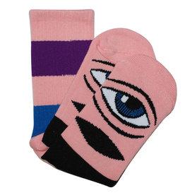 Toy Machine Toy Machine Socks Sect Eye Big Stripe Crew (Pink)