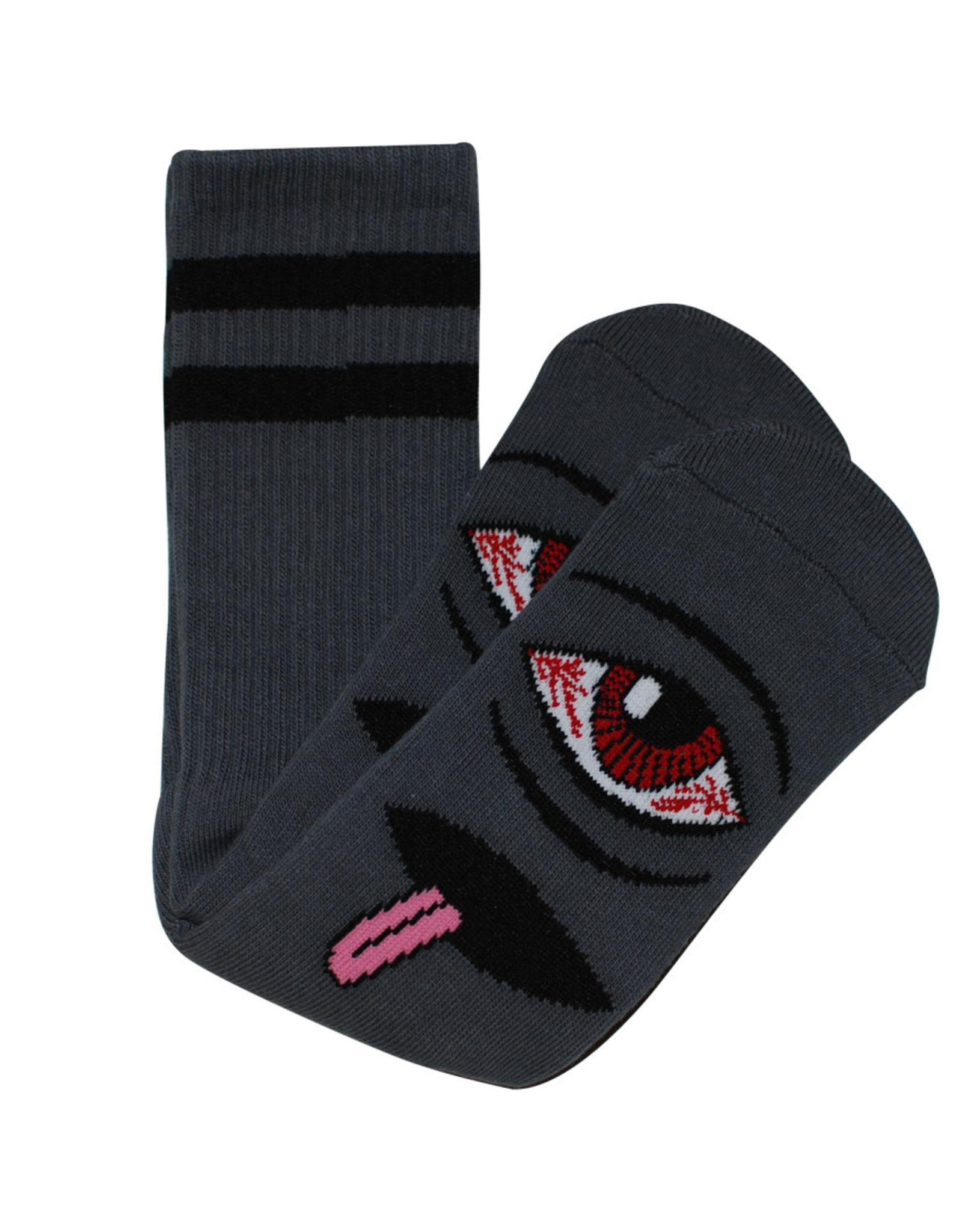 Toy Machine Toy Machine Socks Bloodshot Eye Crew (Black)