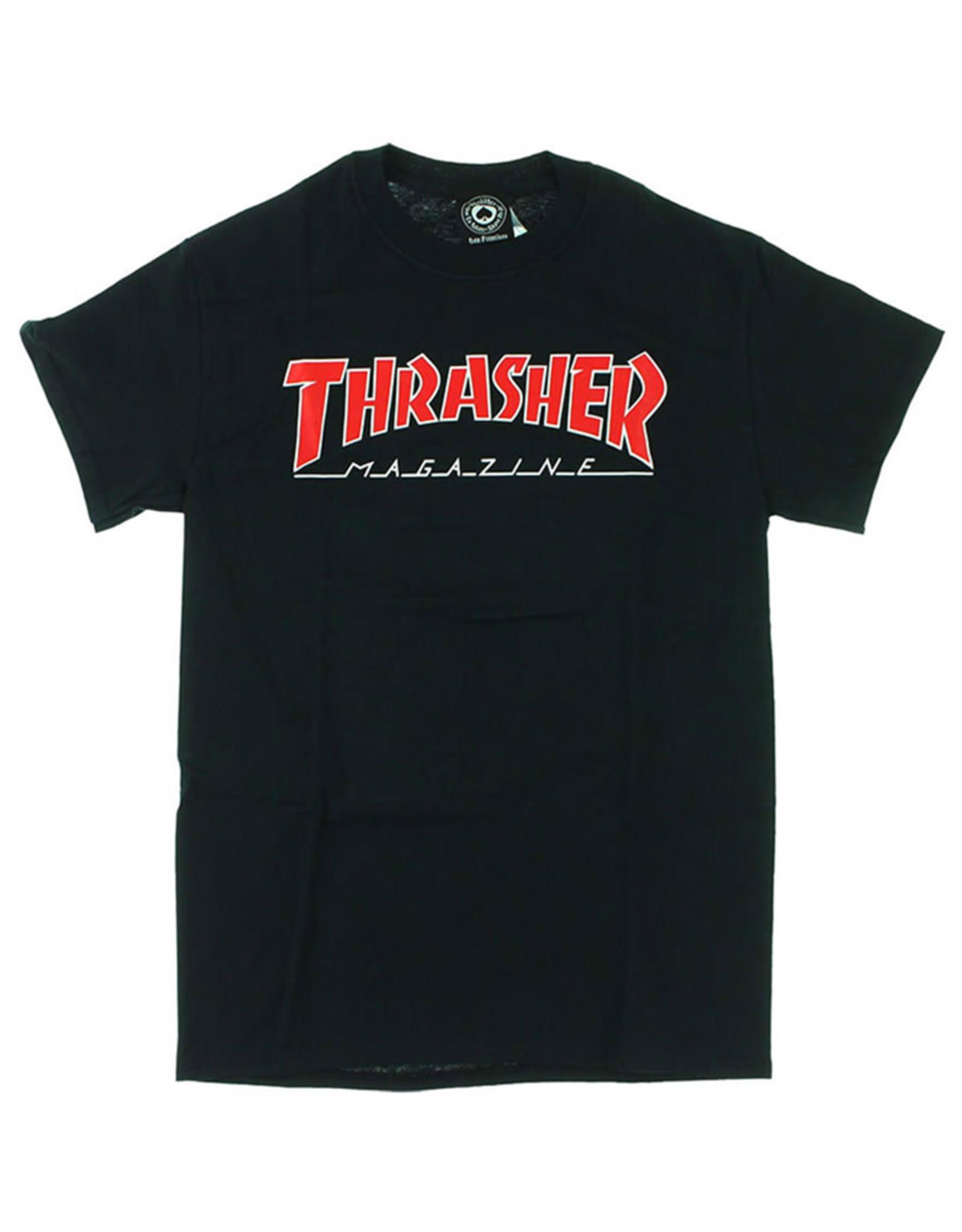 Thrasher Thrasher Tee Mens Outlined S/S (Black)