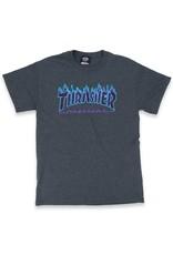 Thrasher Thrasher Tee Mens Flame Logo S/S (Dark Heather)