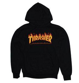 Thrasher Thrasher Hood Mens Flame (Black)