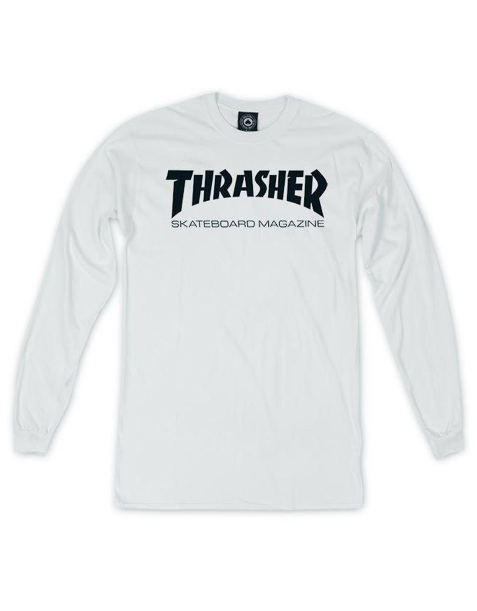 Thrasher Thrasher Tee Mens Sk8 Mag L/S (White)