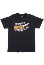 Thrasher Thrasher Tee Mens Scarred S/S (Black)