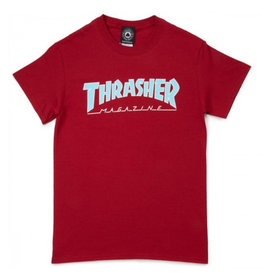 Thrasher Thrasher Tee Mens Outlined S/S (Cardinal)