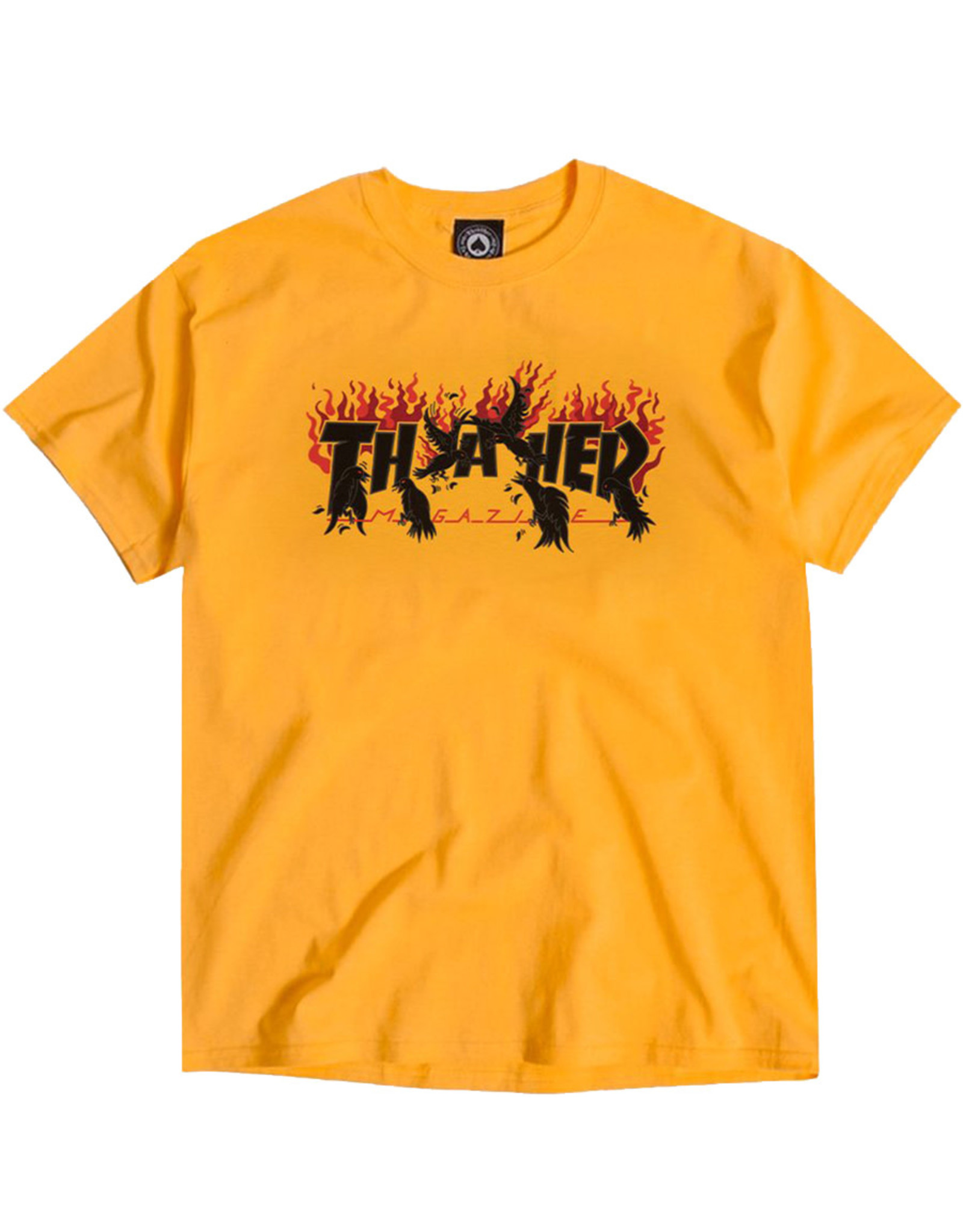 Thrasher Thrasher Tee Mens Crows S/S (Gold)