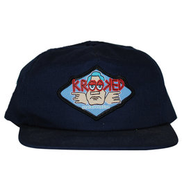 Krooked Krooked Hat Eyes Embroidary Snapback (Navy)