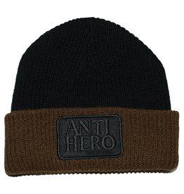 Anti Hero Anti Hero Beanie Reserve Patch (Black/Brown)