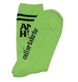 Anti Hero Anti Hero Socks Blackhero If Found Crew (Lime/Black)
