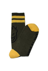 Spitfire Spitfire Socks Heads Up Crew (Olive/Yellow/Black)
