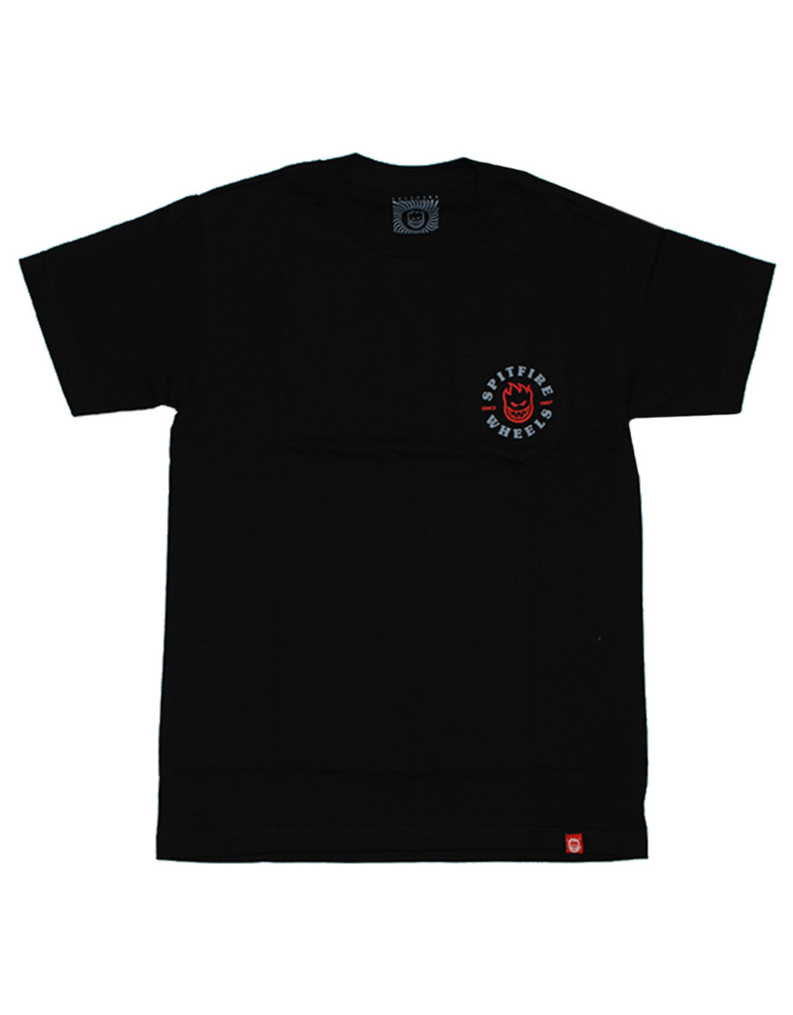 Spitfire Spitfire Tee Bighead Classic Pocket S/S (Black/Red)