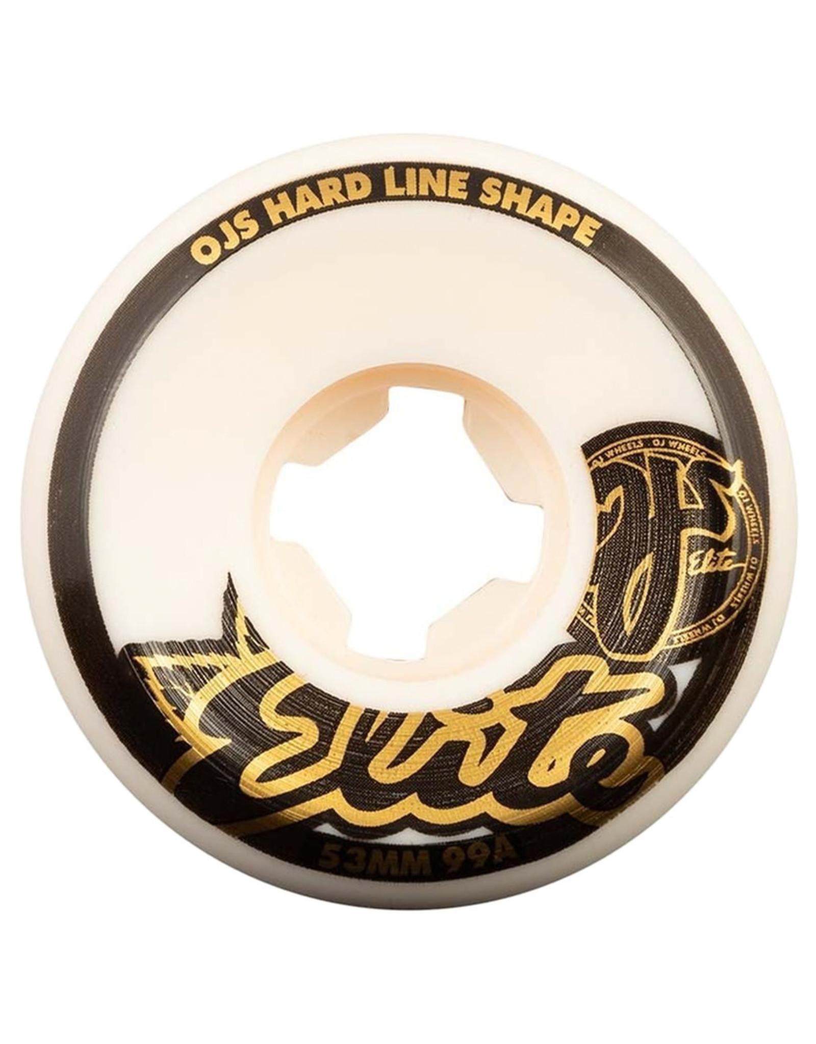 OJ Wheels OJ Wheels Team Elite Hardline White (53mm/99a)