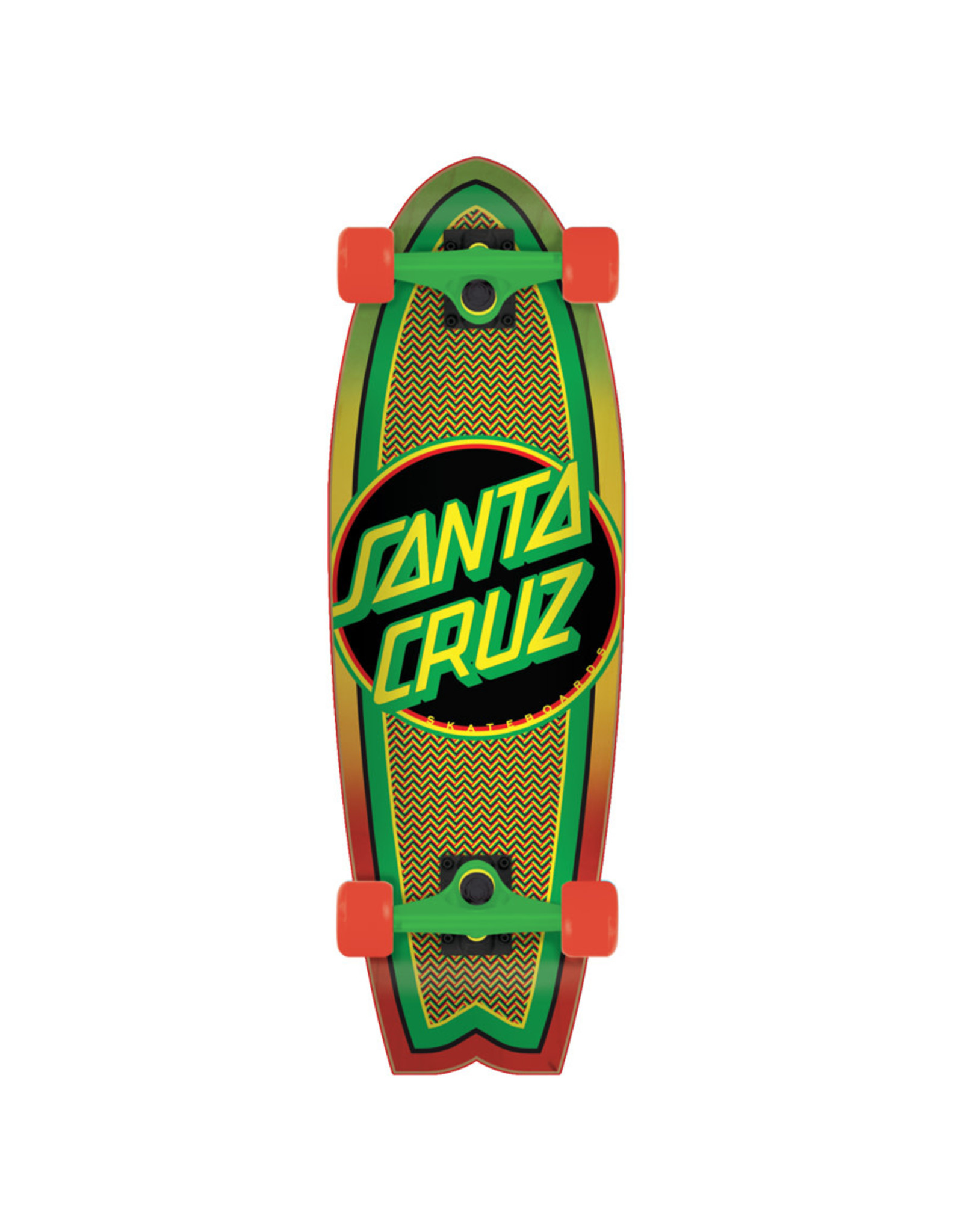 Santa Cruz Santa Cruz Complete Rasta Weave Dot Shark Cruzer (8.8)