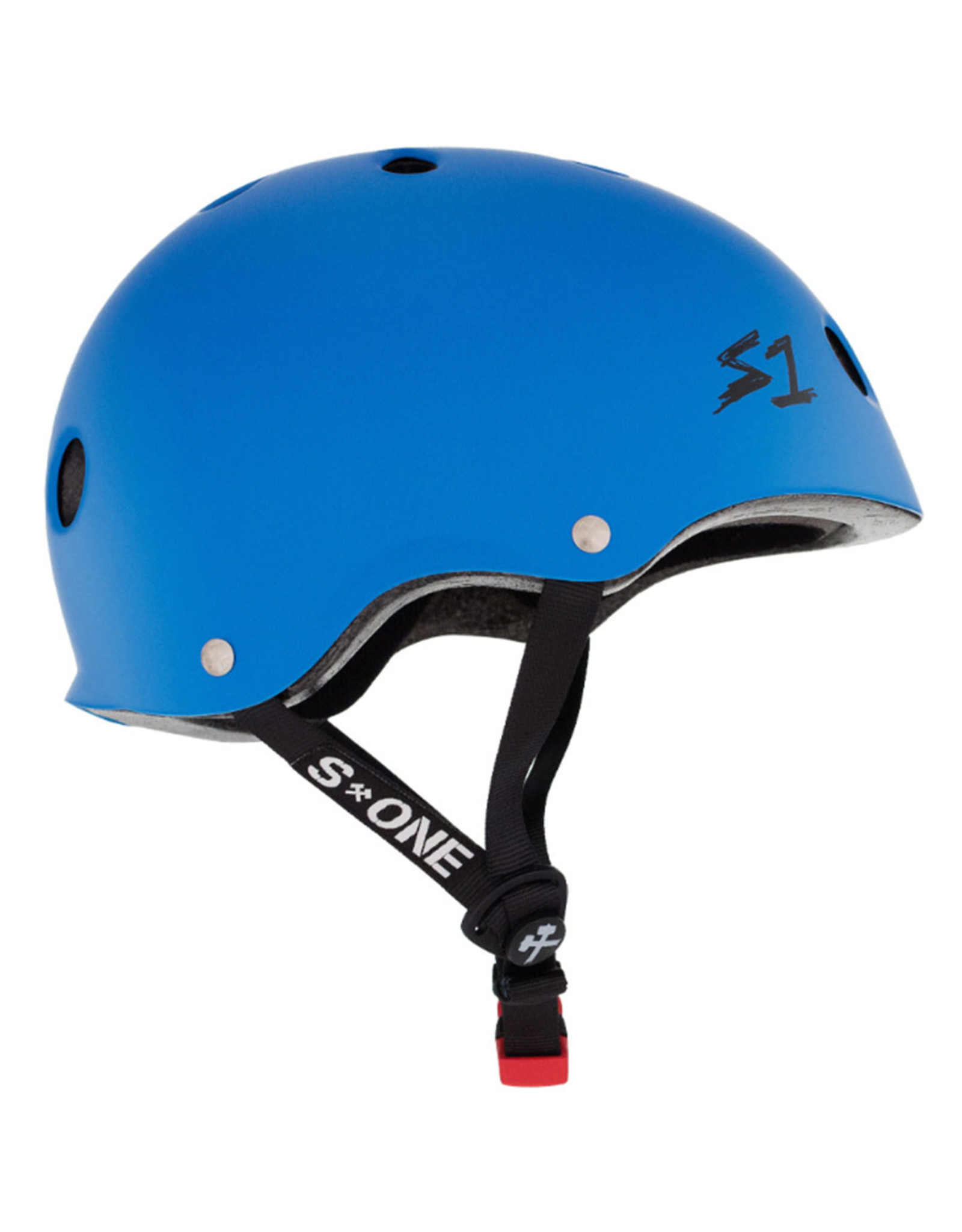 S-One S-One Helmet The Mini (Cyan Matte/Black Straps)