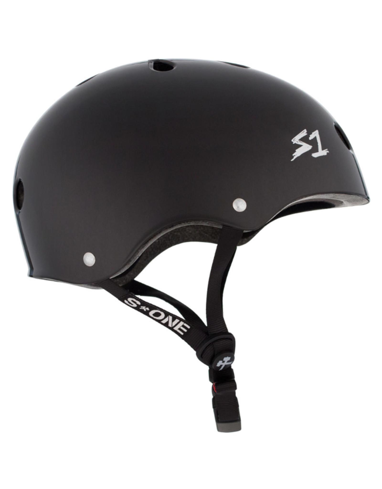 S-One S-One Helmet The Mega (Black Matte/Black Straps)