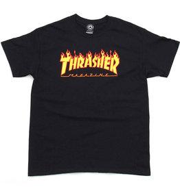 Thrasher Thrasher Tee Mens Flame Logo S/S (Black)