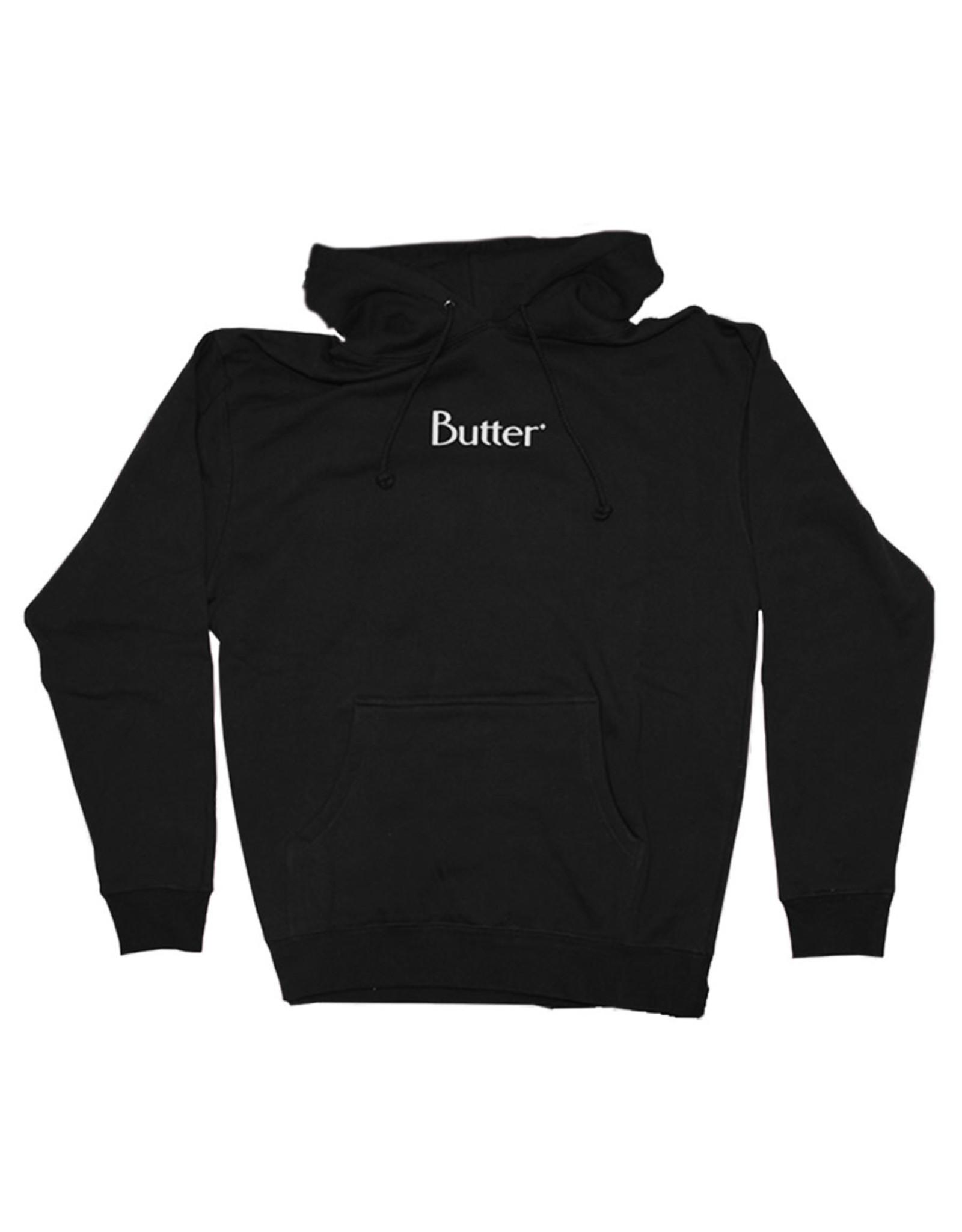 Butter Goods Butter Goods Hood Classic Logo Pullover (Black)