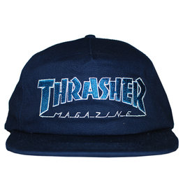 Thrasher Thrasher Hat Outlined Snapback (Navy/Grey)