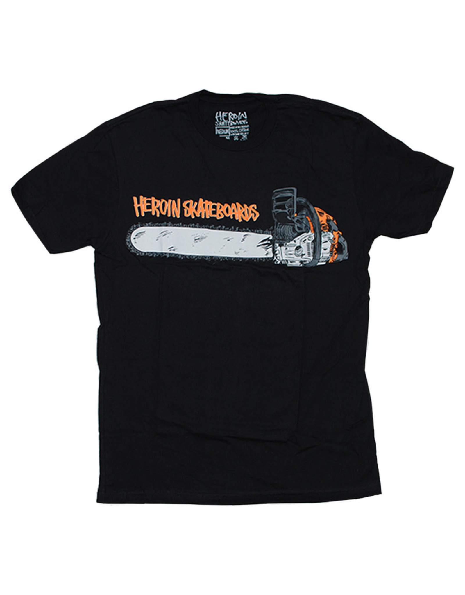 Heroin Heroin Tee Chainsaw S/S (Black)