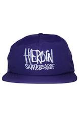 Heroin Heroin Hat Script Nylon Snapback (Purple)