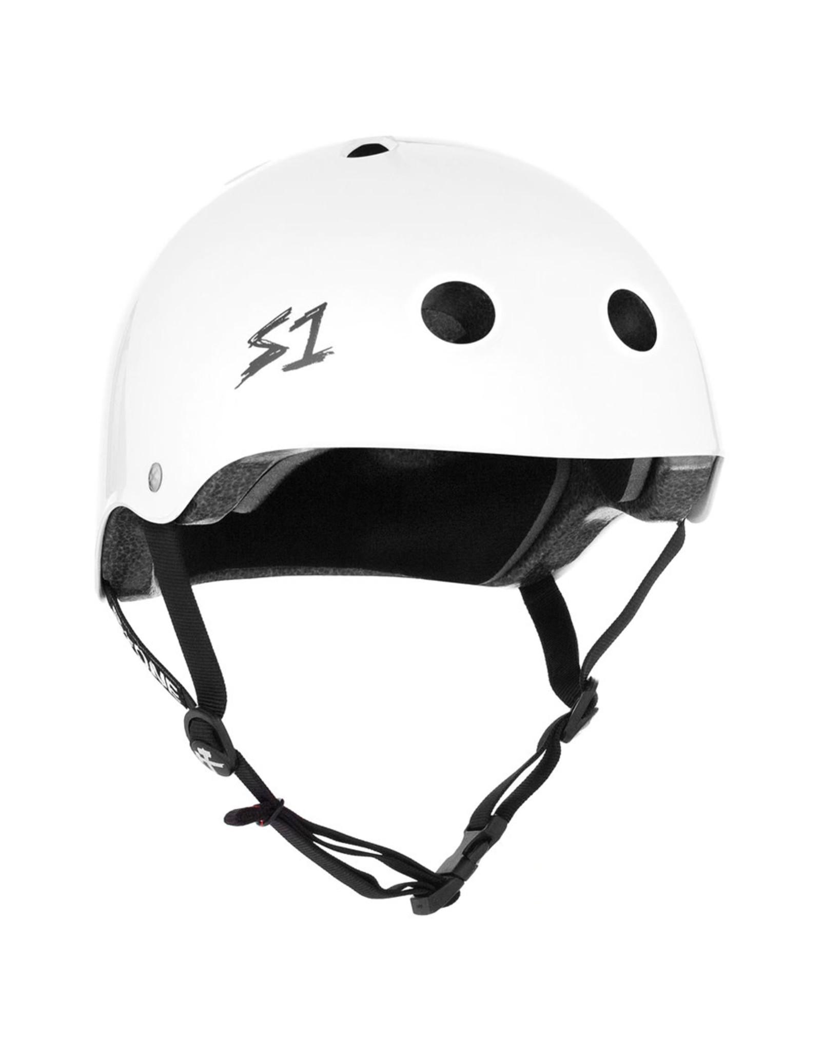 S-One S-One Helmet The Adult Lifer (White Gloss/Black Straps)