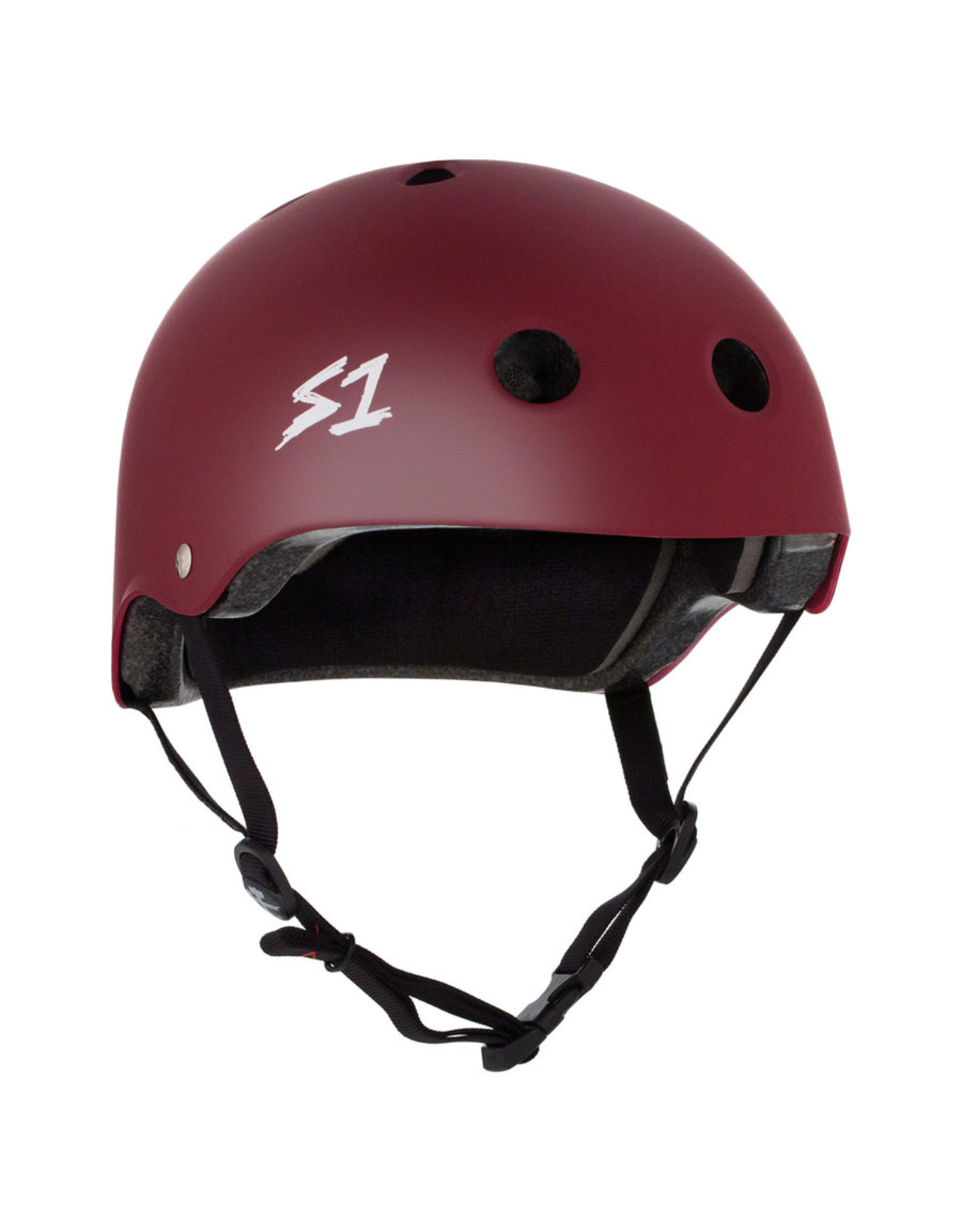 S-One S-One Helmet The Adult Lifer (Maroon Matte/Black Straps)