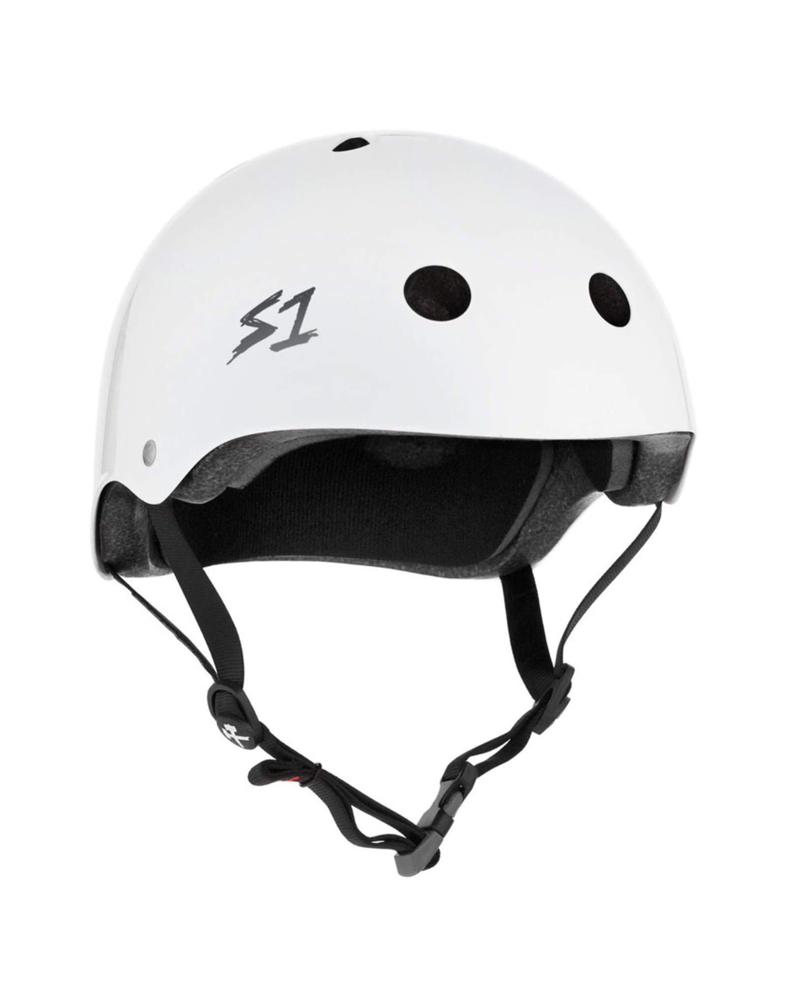 S-One S-One Helmet The Mega (White Gloss/Black Straps)